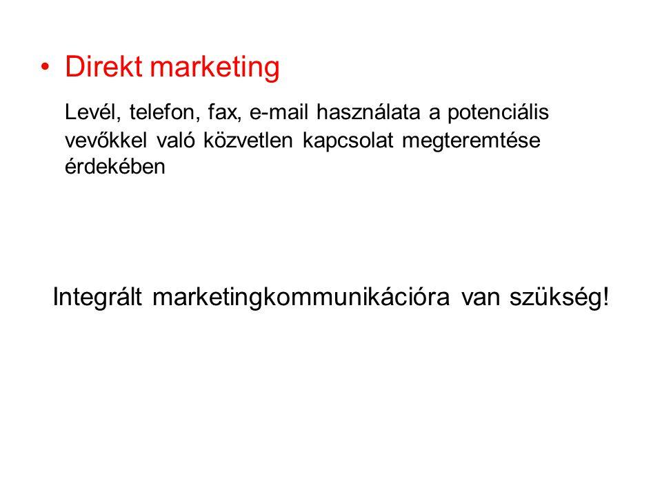 Integrált marketingkommunikációra van szükség!