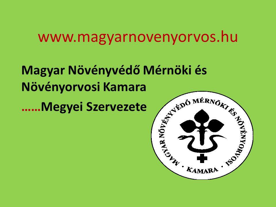 Magyar Növényvédő Mérnöki és Növényorvosi Kamara ……Megyei Szervezete