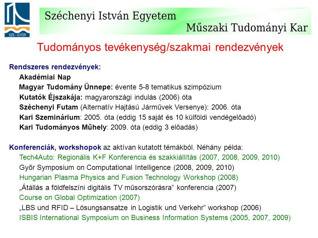 Tudományos tevékenység/szakmai rendezvények