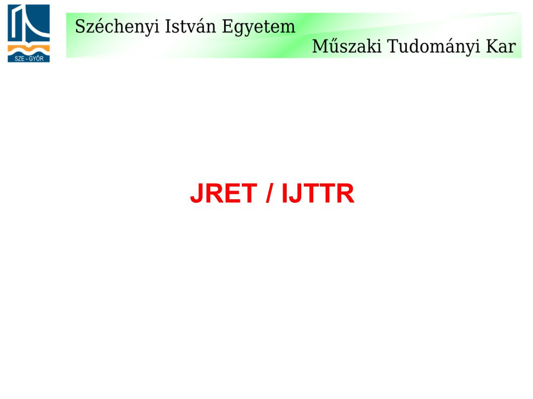 JRET / IJTTR