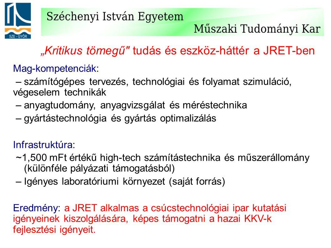 """""""Kritikus tömegű tudás és eszköz-háttér a JRET-ben"""