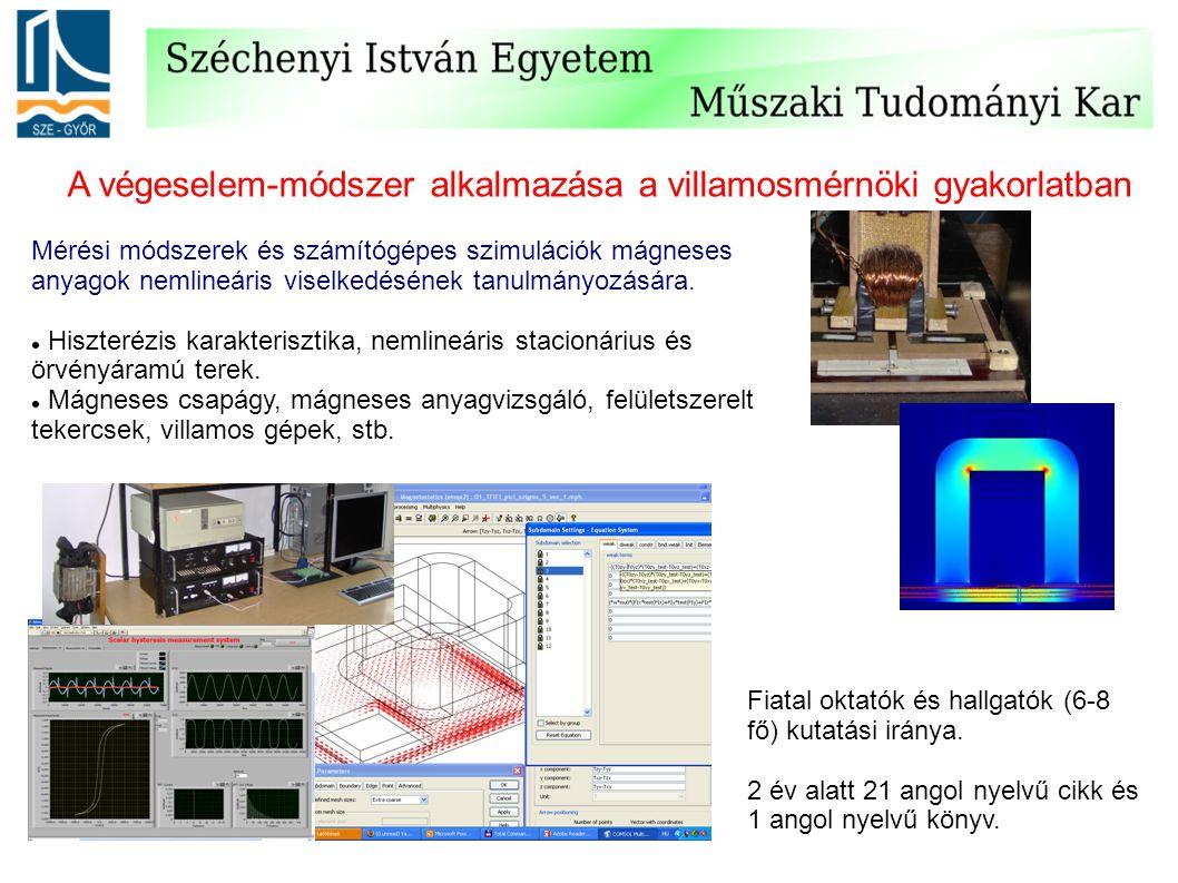 A végeselem-módszer alkalmazása a villamosmérnöki gyakorlatban