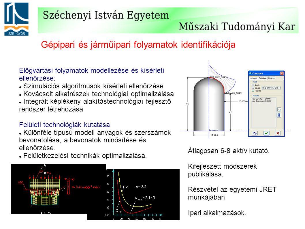 Gépipari és járműipari folyamatok identifikációja