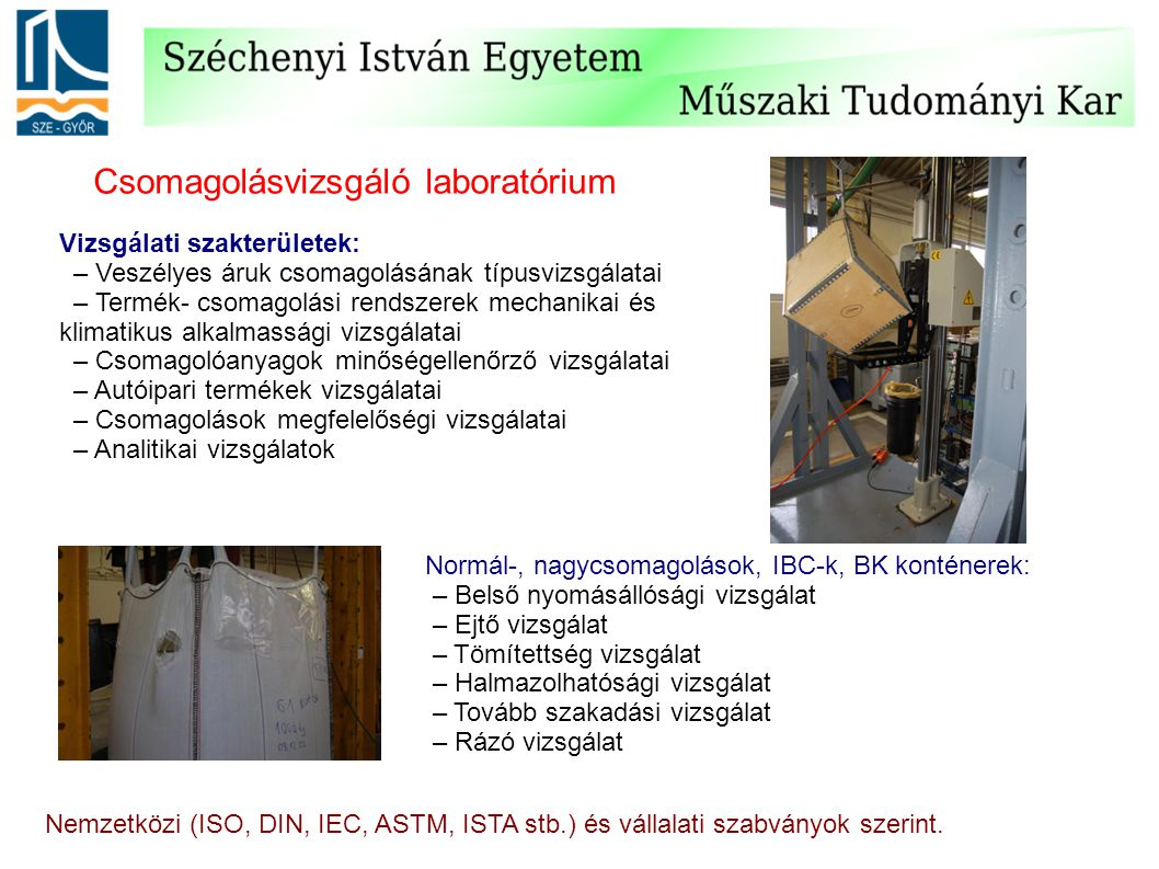 Csomagolásvizsgáló laboratórium