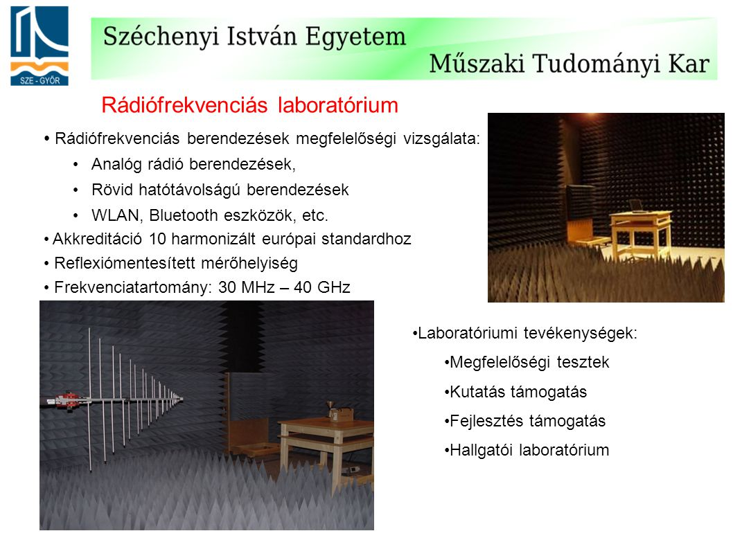 Rádiófrekvenciás laboratórium