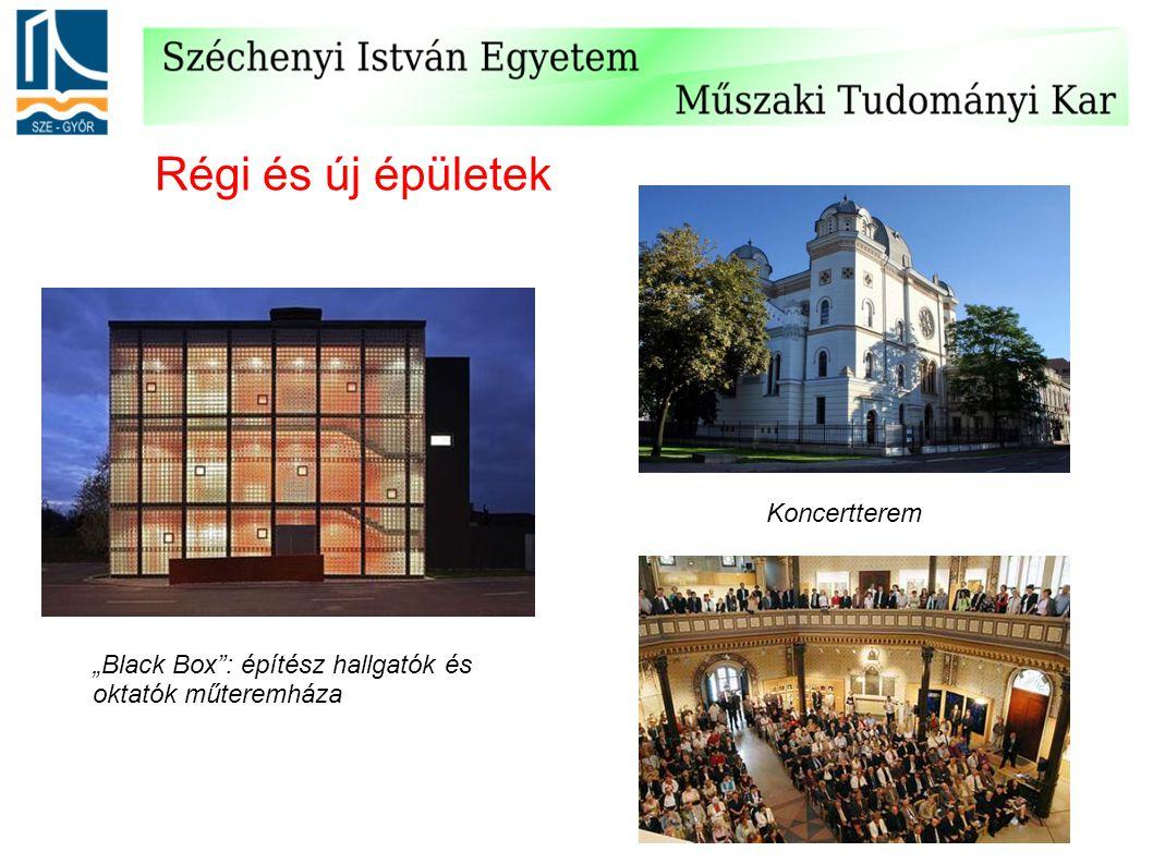 Régi és új épületek Koncertterem