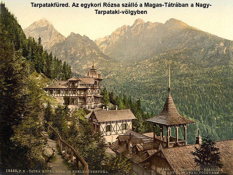 Tarpatakfüred. Az egykori Rózsa szálló a Magas-Tátrában a Nagy-Tarpataki-völgyben