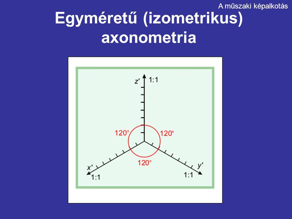 Egyméretű (izometrikus) axonometria
