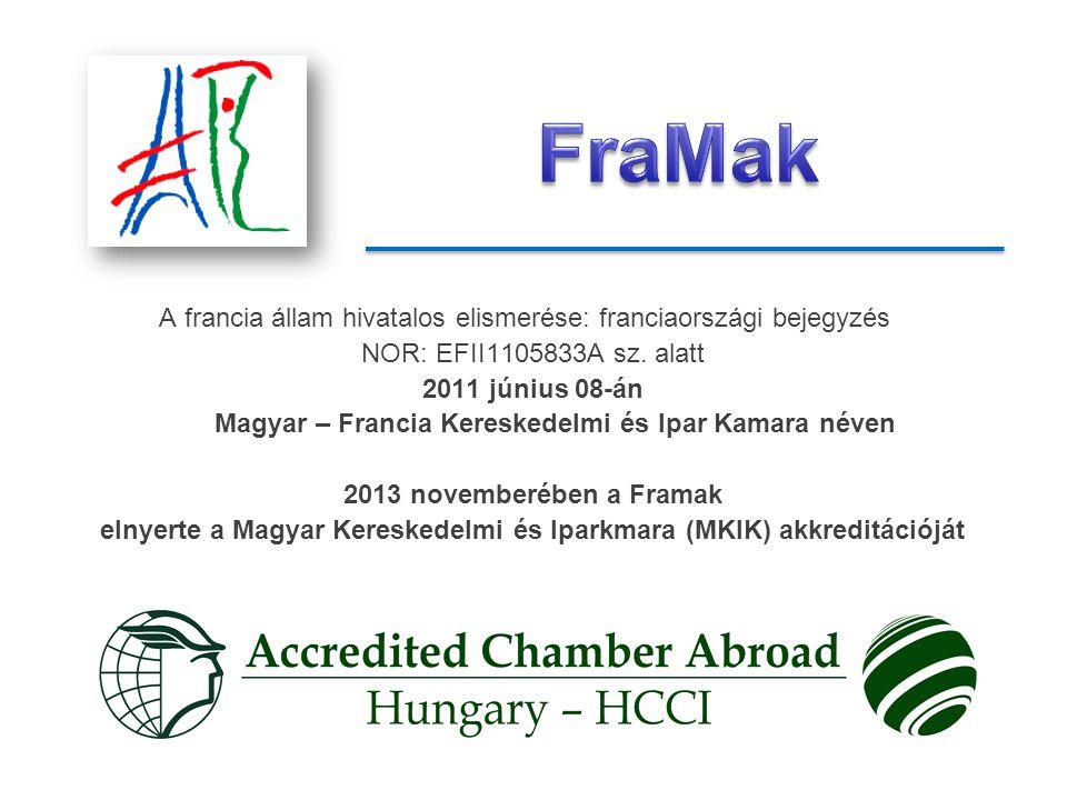 elnyerte a Magyar Kereskedelmi és Iparkmara (MKIK) akkreditációját