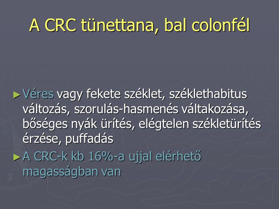 A CRC tünettana, bal colonfél