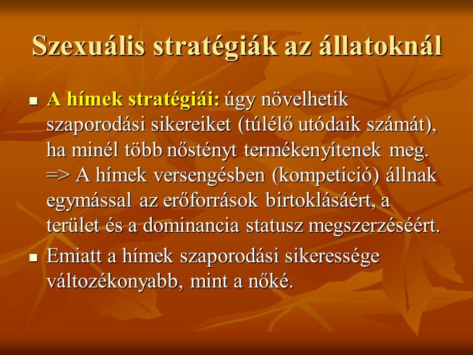 Szexuális stratégiák az állatoknál