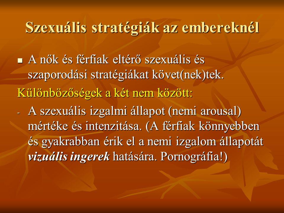 Szexuális stratégiák az embereknél