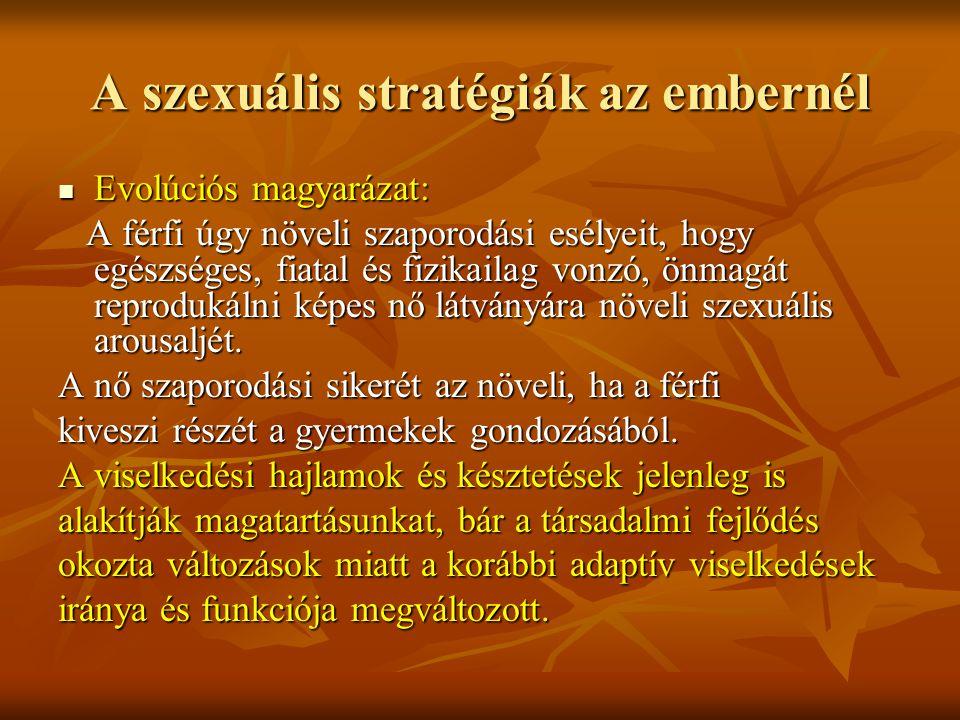 A szexuális stratégiák az embernél