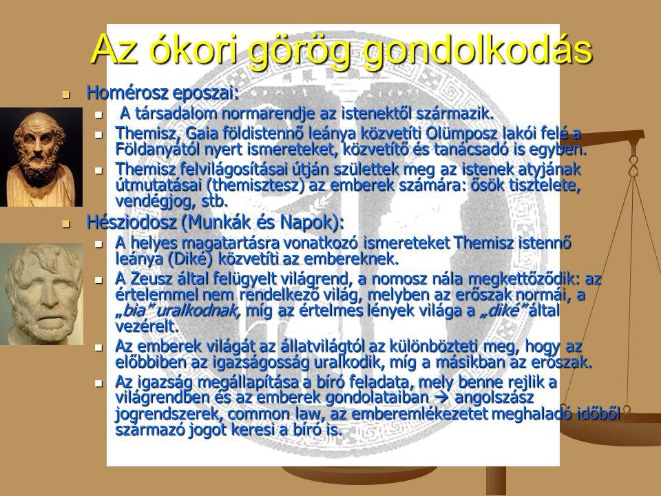 Az ókori görög gondolkodás