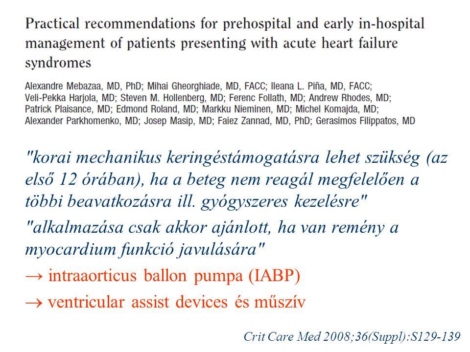 → intraaorticus ballon pumpa (IABP)