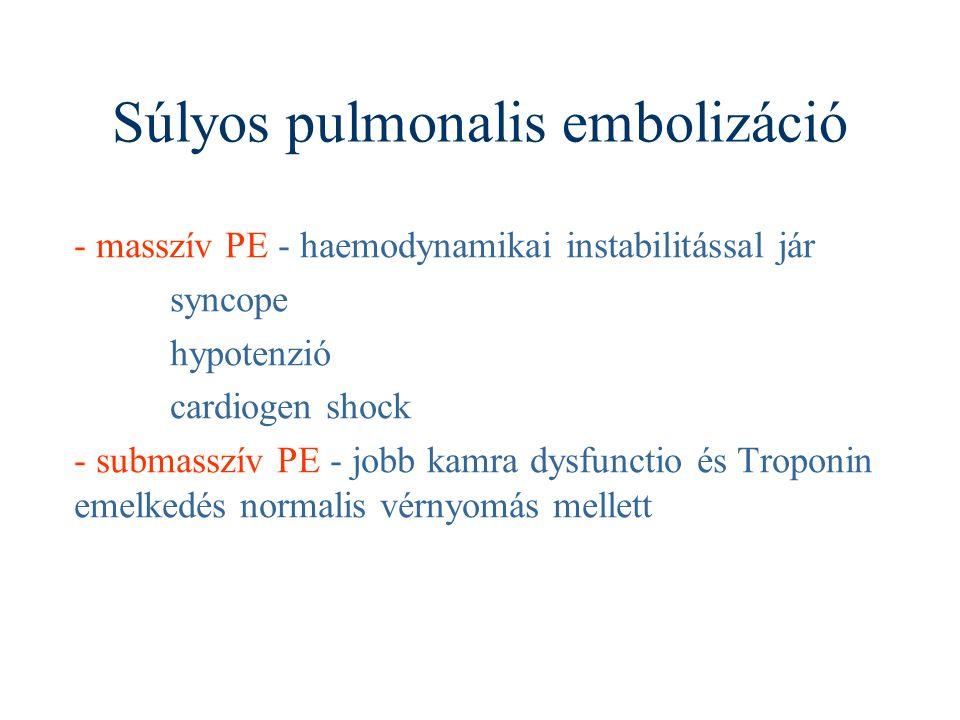 Súlyos pulmonalis embolizáció