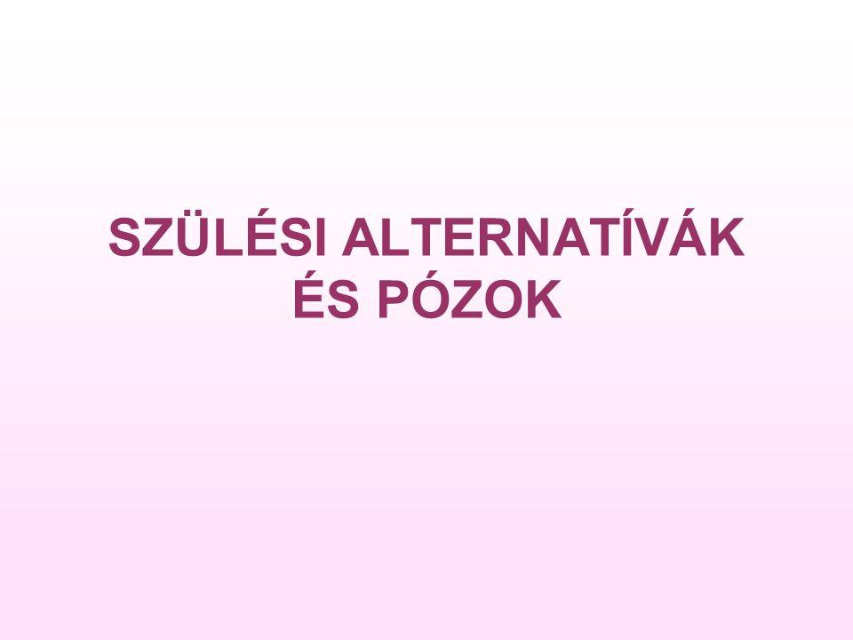 SZÜLÉSI ALTERNATÍVÁK ÉS PÓZOK