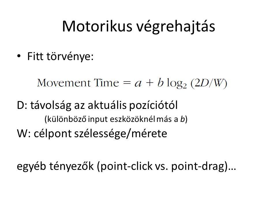 Motorikus végrehajtás
