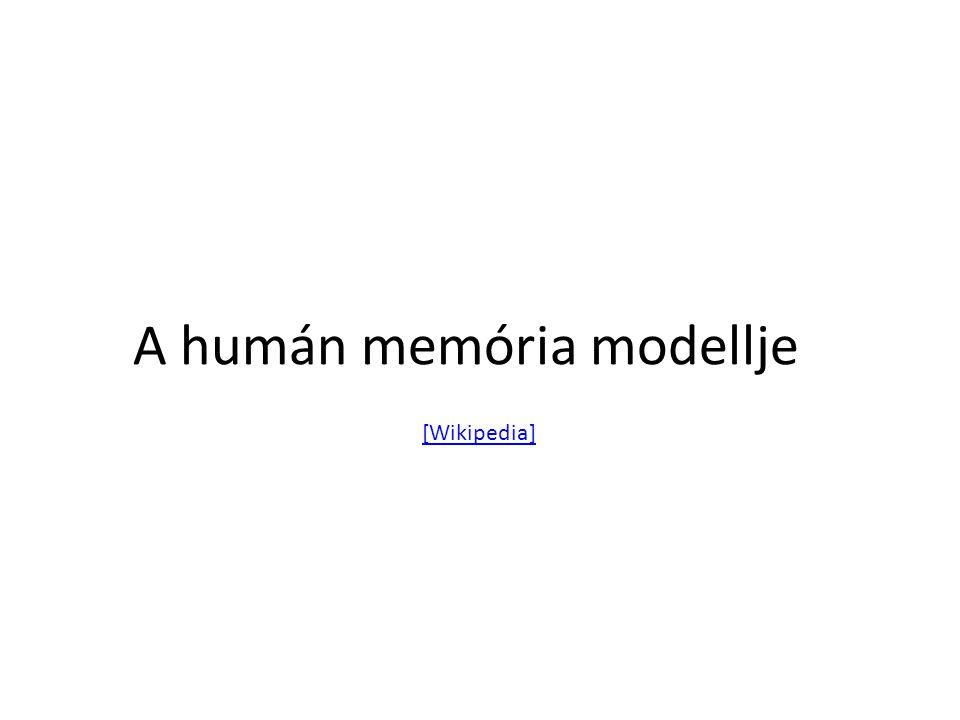 A humán memória modellje