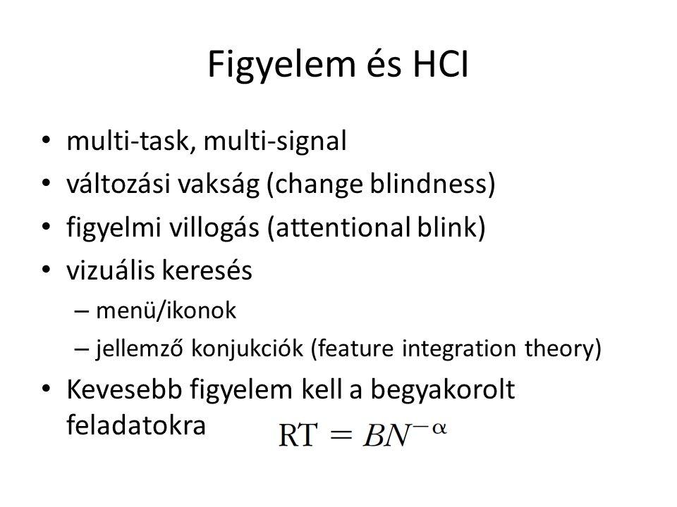 Figyelem és HCI multi-task, multi-signal