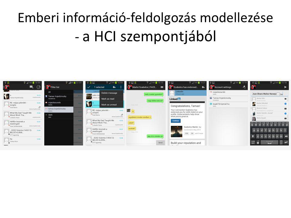 Emberi információ-feldolgozás modellezése - a HCI szempontjából