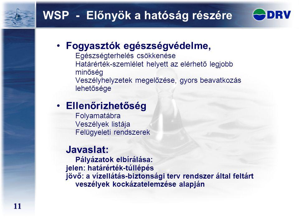 WSP - Előnyök a hatóság részére