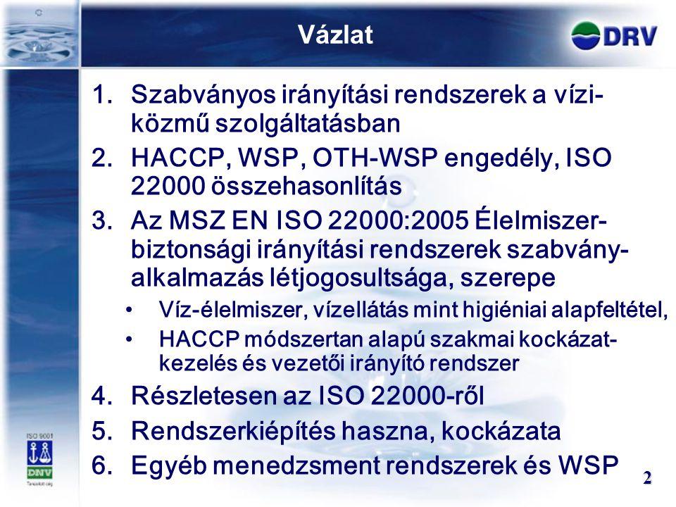 Szabványos irányítási rendszerek a vízi-közmű szolgáltatásban