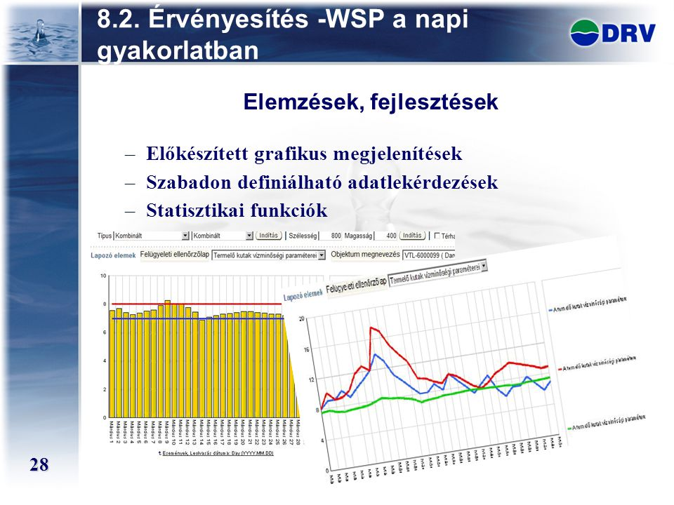 8.2. Érvényesítés -WSP a napi gyakorlatban