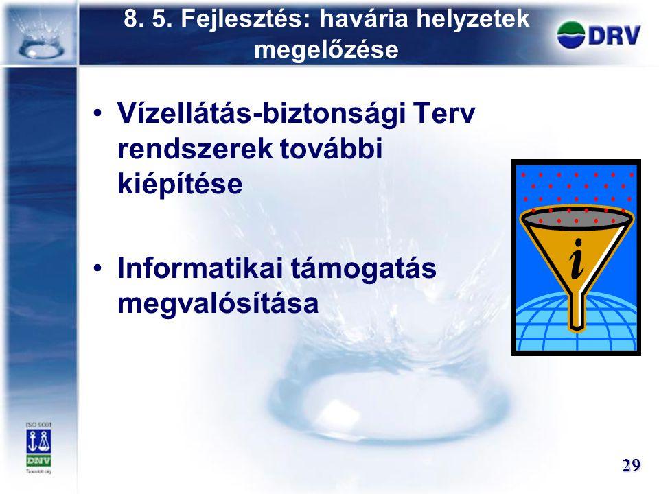 8. 5. Fejlesztés: havária helyzetek megelőzése