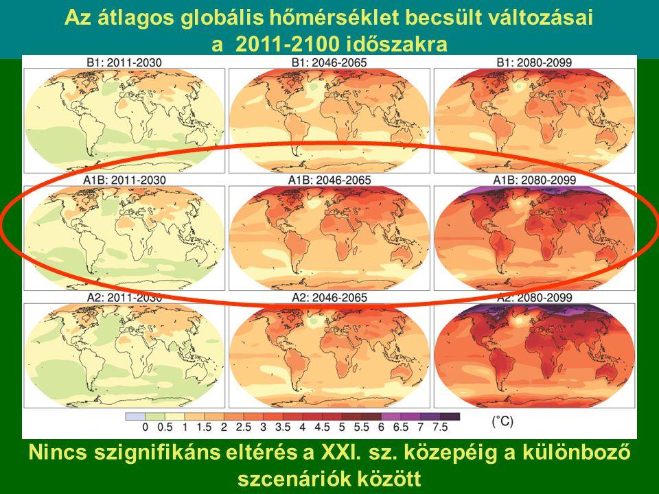 Az átlagos globális hőmérséklet becsült változásai