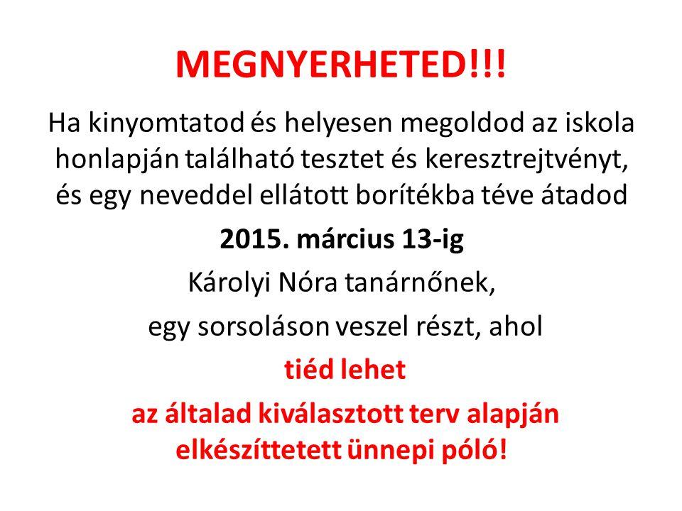 MEGNYERHETED!!!