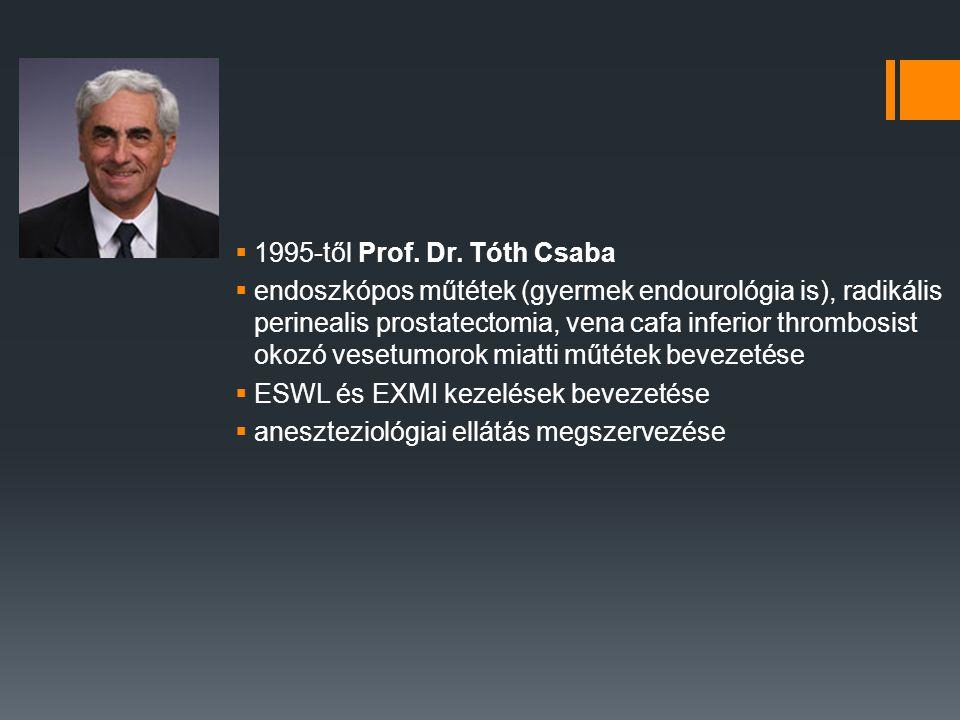 1995-től Prof. Dr. Tóth Csaba
