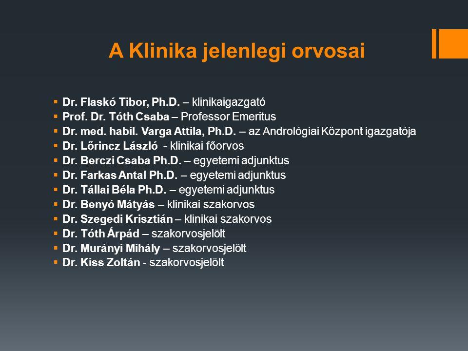 A Klinika jelenlegi orvosai