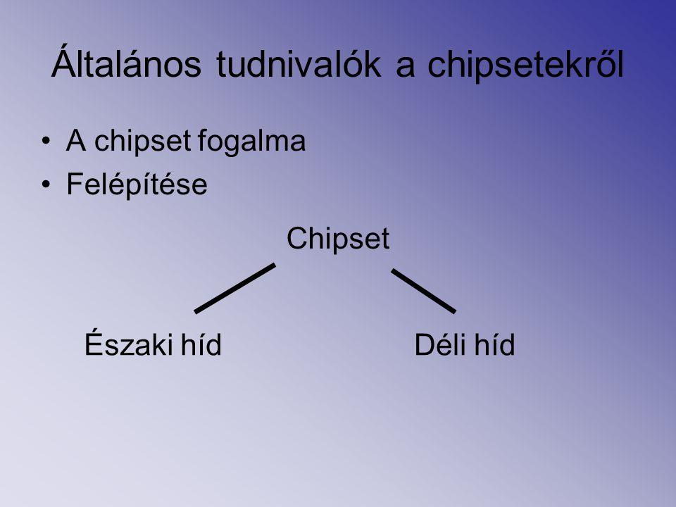 Általános tudnivalók a chipsetekről