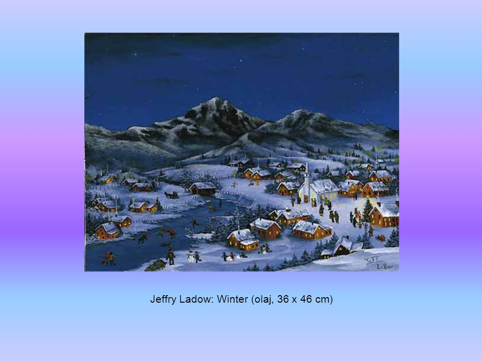Jeffry Ladow: Winter (olaj, 36 x 46 cm)