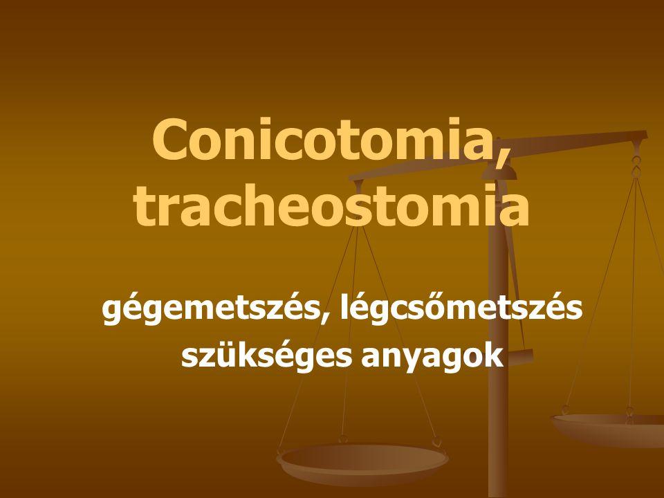 Conicotomia, tracheostomia