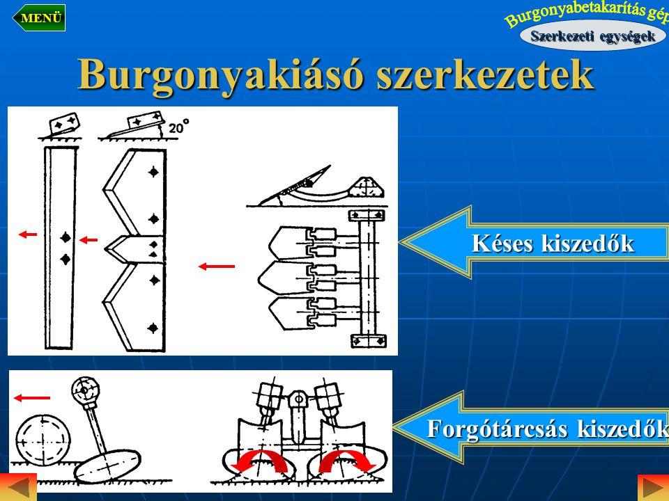 Burgonyakiásó szerkezetek