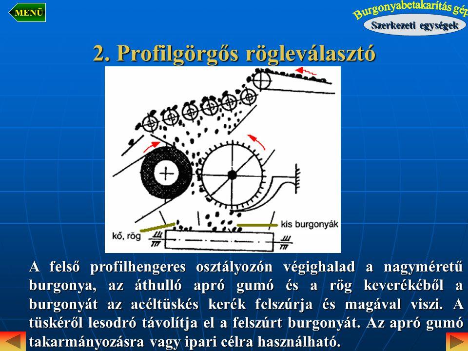 2. Profilgörgős rögleválasztó
