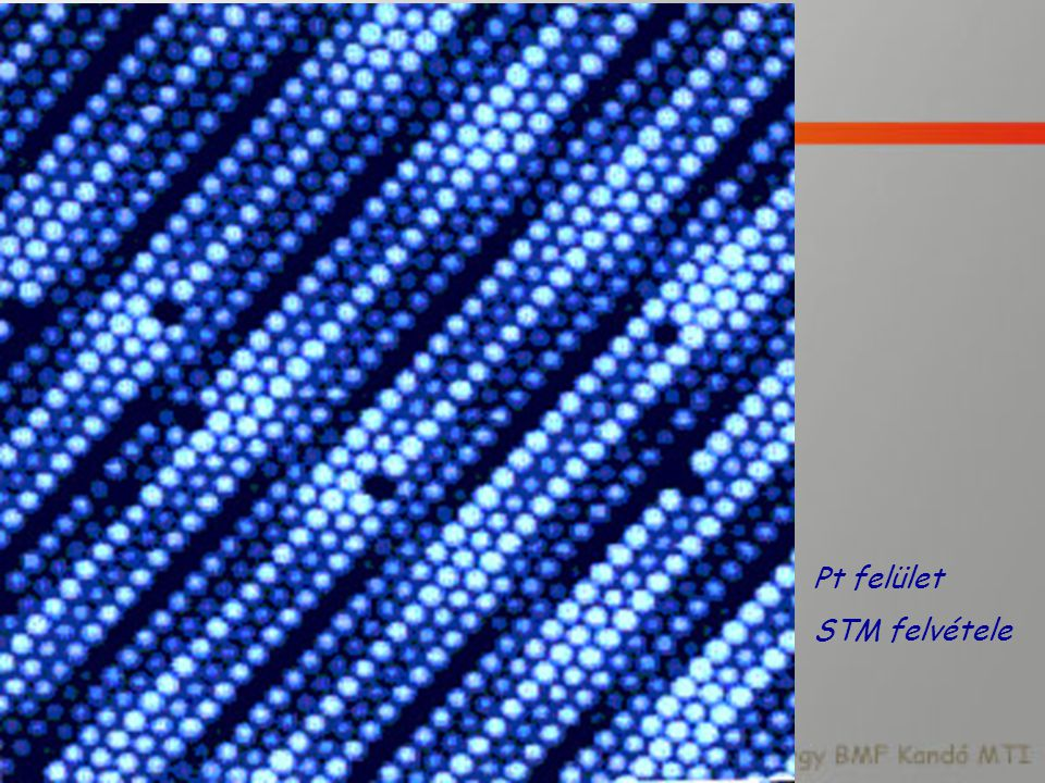 Pt felület STM felvétele