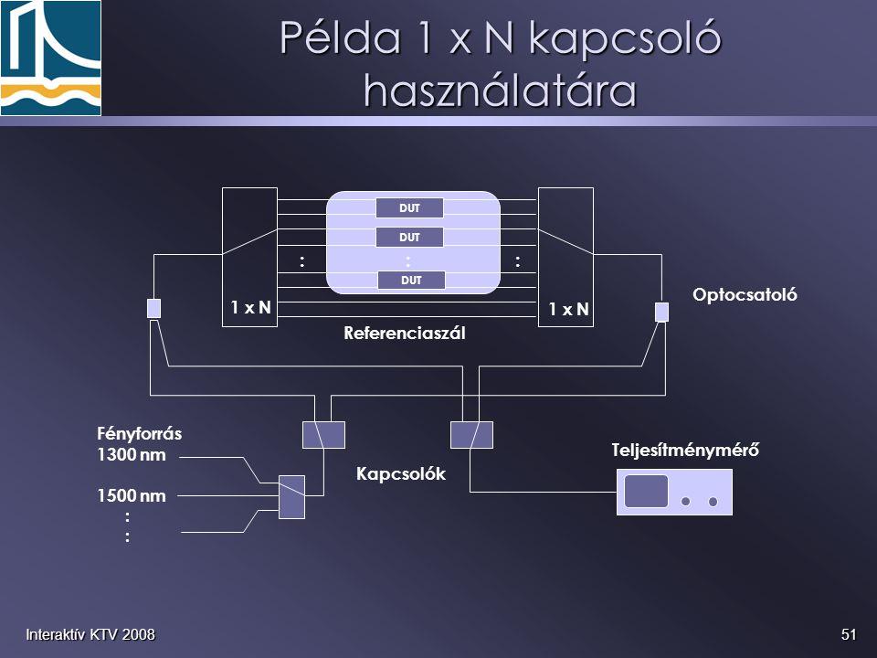 Példa 1 x N kapcsoló használatára