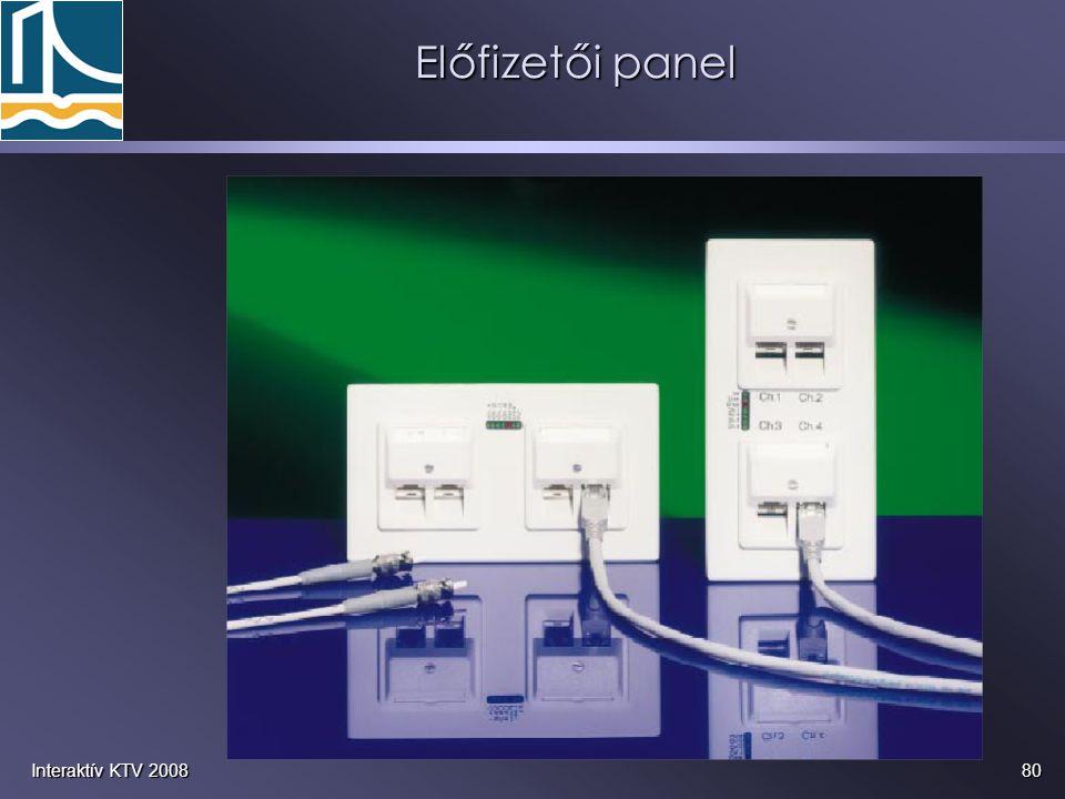 Előfizetői panel Interaktív KTV 2008