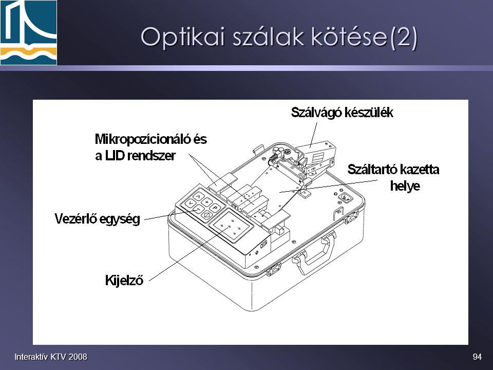 Optikai szálak kötése(2)