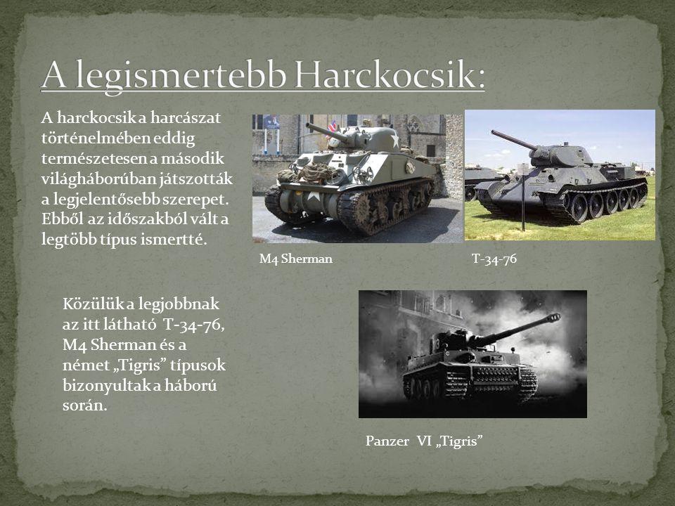 A legismertebb Harckocsik: