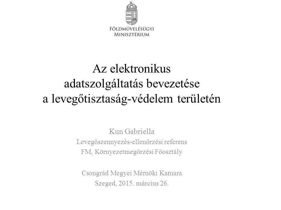 Az elektronikus adatszolgáltatás bevezetése a levegőtisztaság-védelem területén