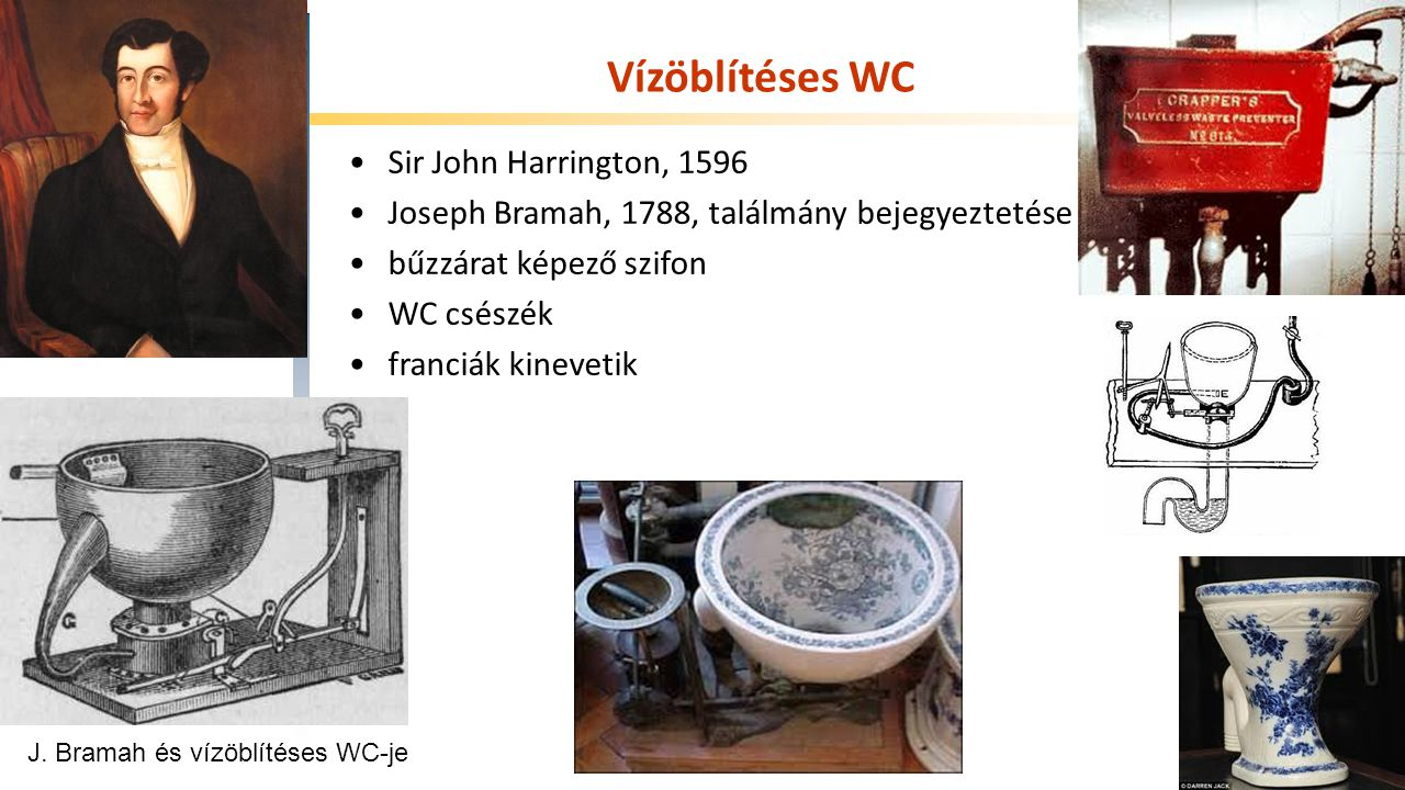 Vízöblítéses WC Sir John Harrington, 1596