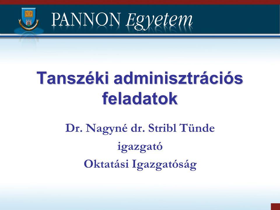Tanszéki adminisztrációs feladatok
