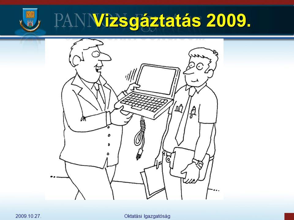 Vizsgáztatás 2009. 2009.10.27. Oktatási Igazgatóság