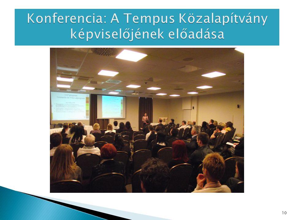 Konferencia: A Tempus Közalapítvány képviselőjének előadása