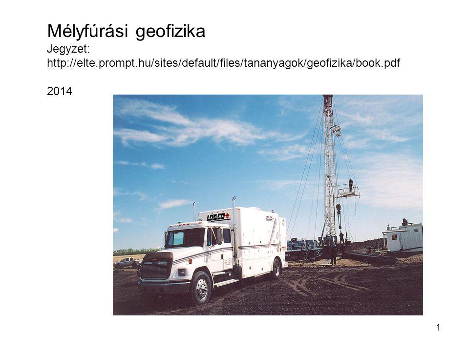 Mélyfúrási geofizika Jegyzet: http://elte.prompt.hu/sites/default/files/tananyagok/geofizika/book.pdf.