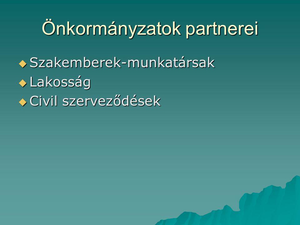 Önkormányzatok partnerei